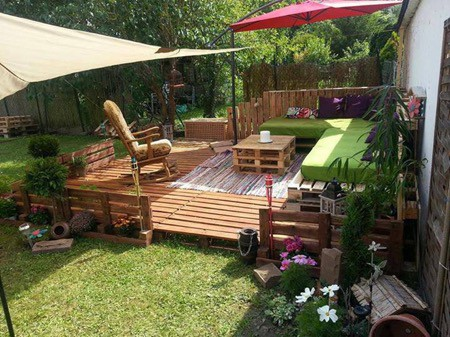 build a deck from pallets