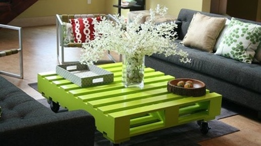 coffe table made from pallets
