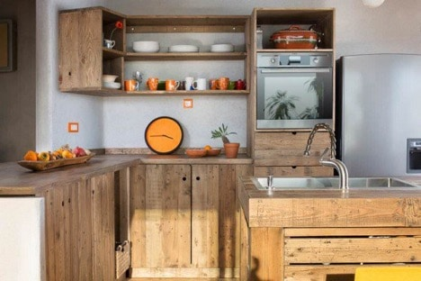 moden kitchen made with pallets