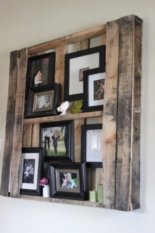 shelf made from wooden pallets