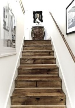 stairs made from wooden pallets