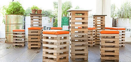 wooden pallet ideas a barstool made from pallets
